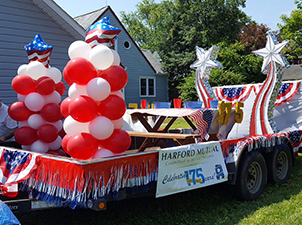 Our float for the Bel Air 4th of July parade.