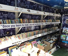 Inside of the Bookmobile.