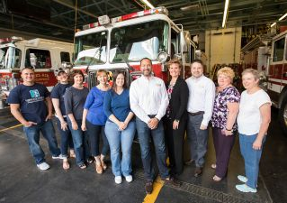 Harford Mutual employees that volunteered to serve Harford County's first responders.